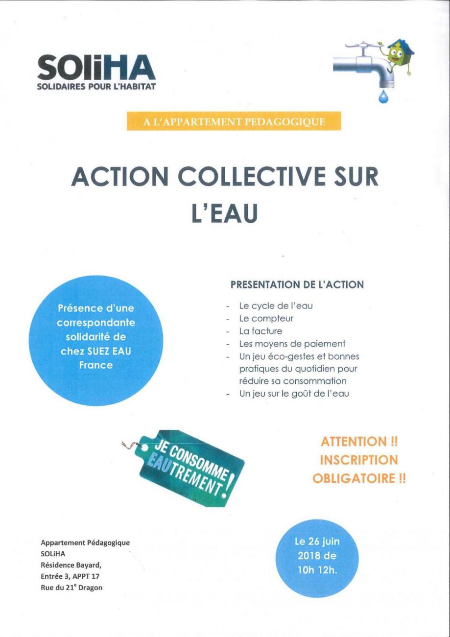 Affiche action collective ste des eaux