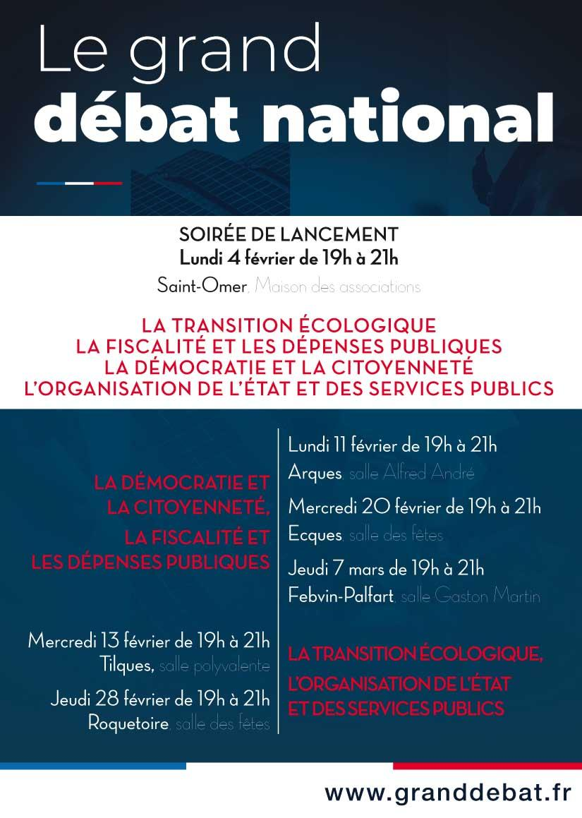 Affiche grand debat national