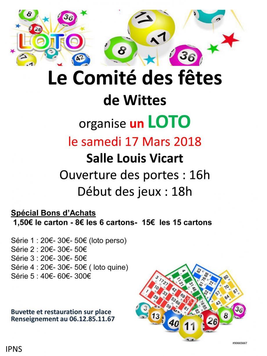 Flyer loto du samedi 17 mars 2018