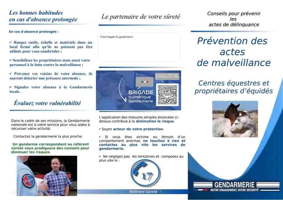 Plaquette prevention centres equestres 1