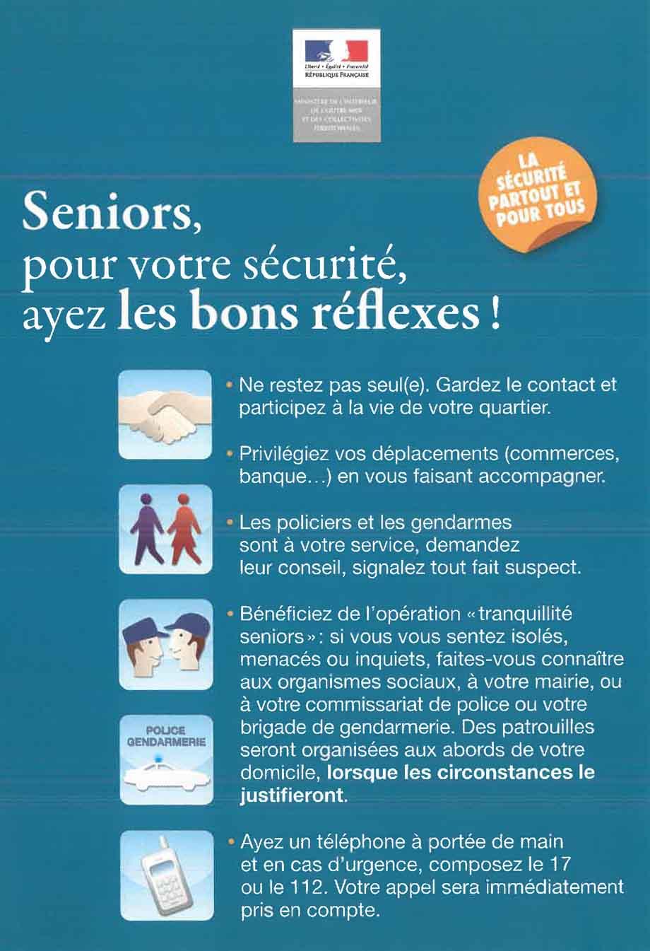 Seniors ayez les bons reflexes