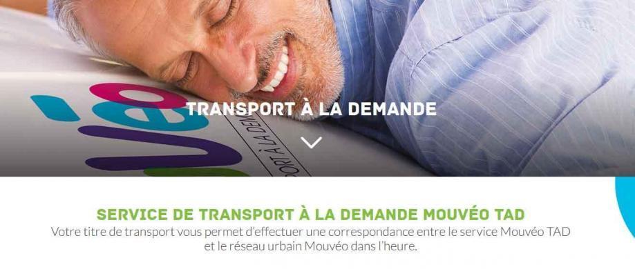 Service de transports a la demande
