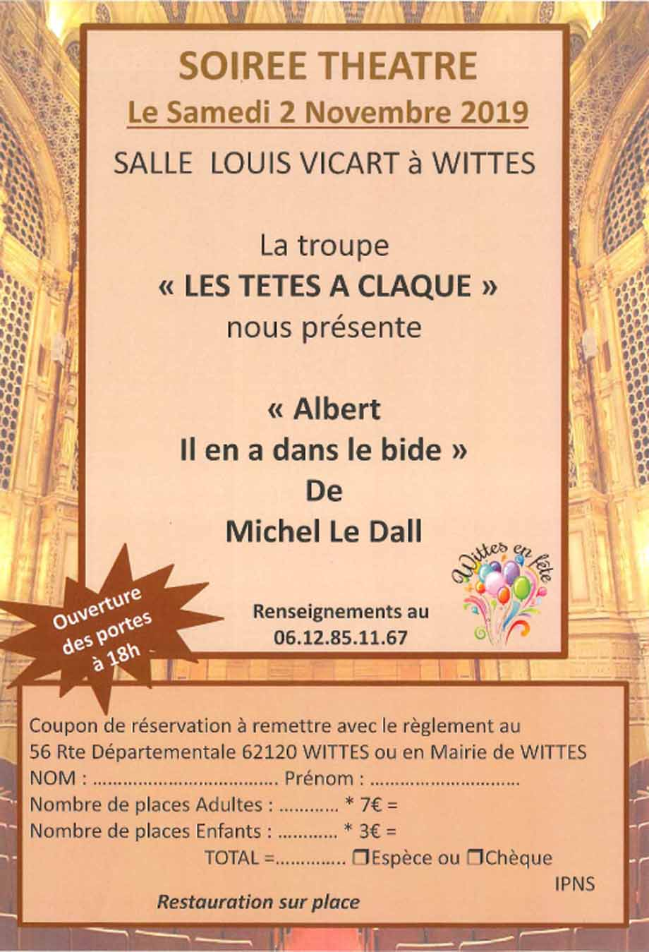 Soiree theatre du 2 novembre