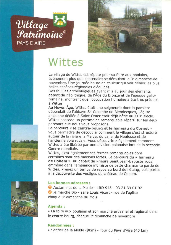 Wittes village patrimoine